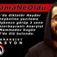 Bayram Mammadov, anarquista azerbaiyano, torturado y encarcelado durante 3 años en Azerbaiyán por escribir en la estatua del dictador Haydar Aliyev, fue hallado muerto hoy en Estambul.